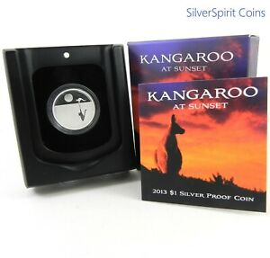 2013-KANGAROO-AT-SUNSET-Silver-Proof-Coin