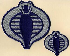 GI-Joe-Cobra-Commander-Navy-Blue-amp-Silver-6-034-amp-3-034-Embroidered-Patch-Set-2