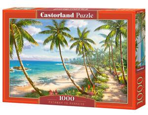 Puzzle-1000-pieces-Chemin-au-paradis-68x47cm-neuf-de-marque-Castorland