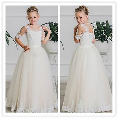 Flower Girls Princess Dress Formal Party Pageant Wedding Bridesmaid Tutu Dresses
