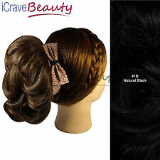 Clip in Hair Bun - Deconstructed Ponytail - Ponytail Hairpiece - All Colours