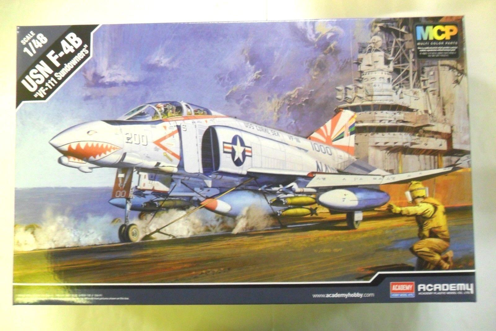 ACADEMY 1 48 KIT AEREO PLANE DA MONTARE MONTARE MONTARE USN F-4B VF-111 SUNDOWNERS  ART 12232 f06f19