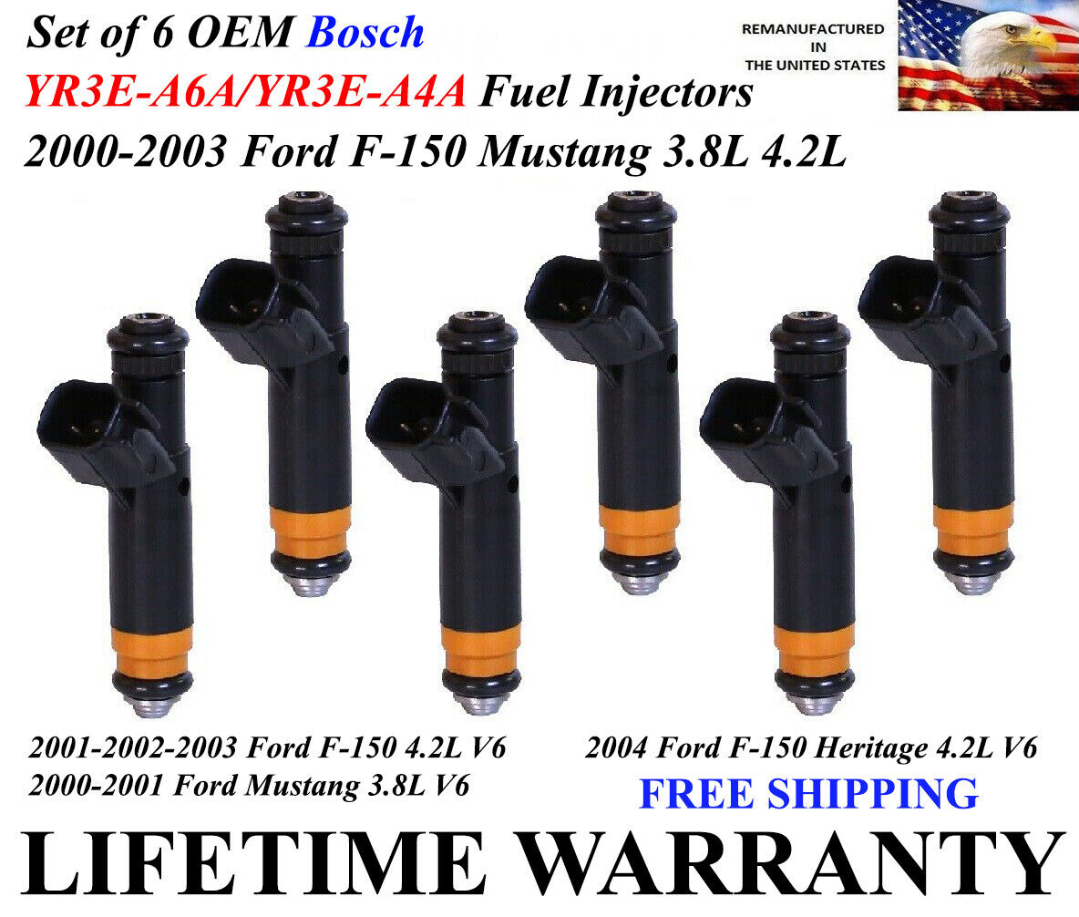 New OEM Fuel Injector YR3E-A4A Set Of 6 for Ford 1999-2004
