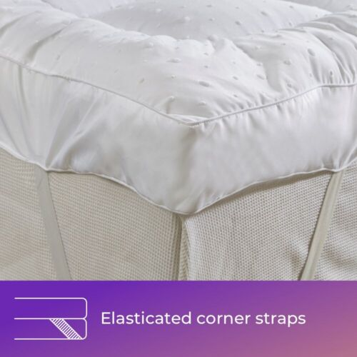 Mattress Topper  Protector  Quilted 3D Fabric ALL SIZES Single Double Super King