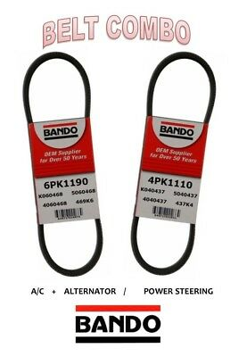 For 99-01 Honda Odyssey 3.5L V6 BANDO Belt 2pc Set ALT//AC//Pwr-4PK1115-6PK1190