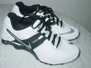 2014-Mens-Nike-Shox-Current-White-Black-Silver-Running-Shoes-Size-11-5-160-00