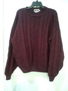 e710545370ab Men Joseph Abboud Crewneck Pullover WOOL ALPACA Scottish Sweater ...