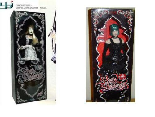 "1//6 Scale 12/"" BBI CY Perfect Body Dark Desires GOTH Female figure LOT of 2 MIB"