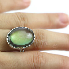 Vintage Retro 70s Oval Mood Ring Color Changeable Emotion Feeling Adjustable New