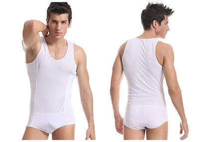 Herren Body Stringbody Tanga Transparent Netz Bodysuit Männer Unterwäsche Wäsch