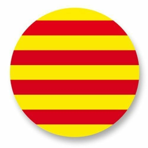 Magnet Aimant Frigo Ø38mm Drapeau Flag Catalogne Catalunya Cataluña Catalan