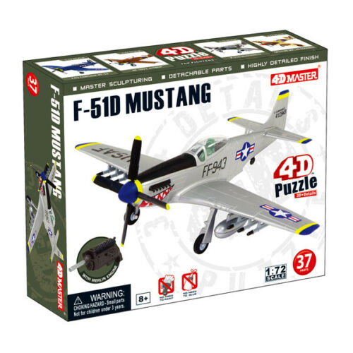 4D Master 1//72 F-51D Mustang USAF Model Kit Puzzle