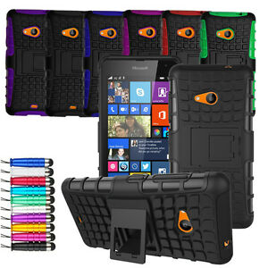 designer fashion 63ec2 90370 For Microsoft Lumia 550 Heavy Duty Shock Proof Hard Case Cover + ...