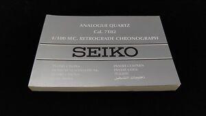 SEIKO-Analogue-Quartz-Watch-Manual-Instructions-Booklets-Cal-7T82-Chronograph