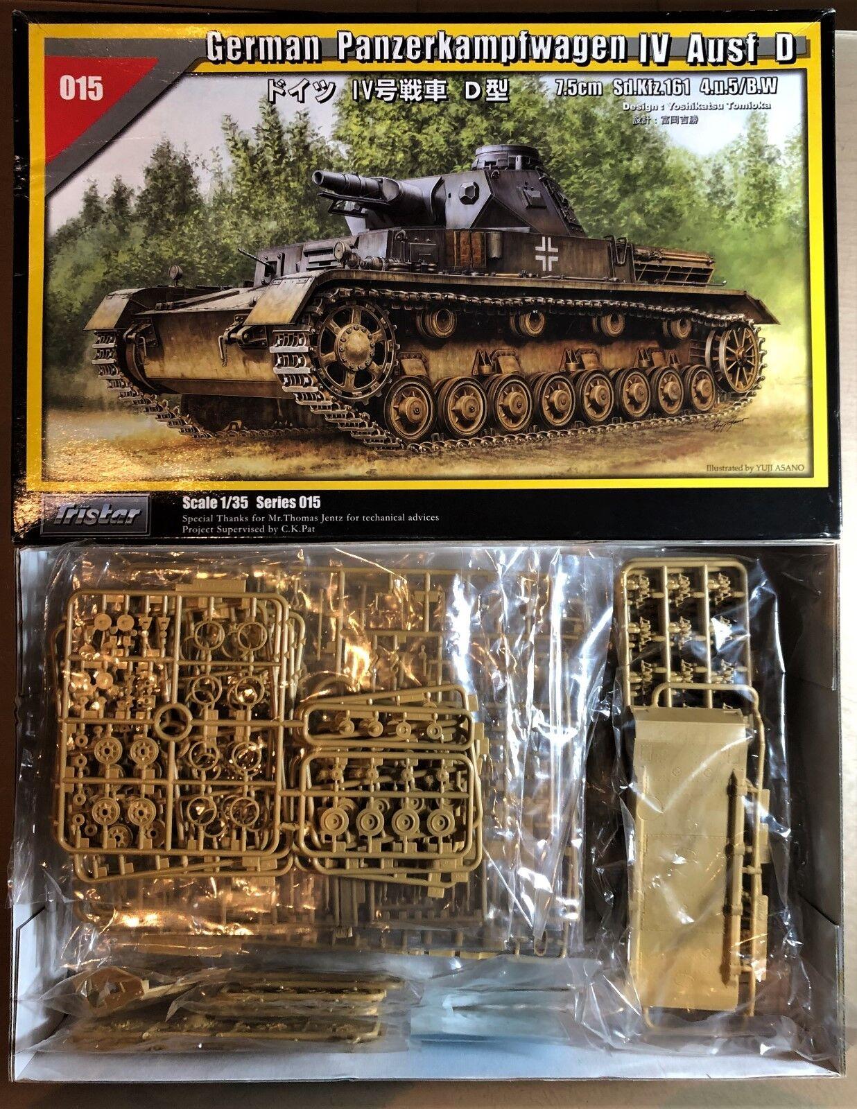 Tristar 35015-German Panzerkampfwagen IV Ausf D - 1 35 Plastic Kit