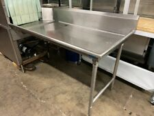60 Right Side Dish Washer Table Dirty Pre Wash All Solid Stainless Steel 5275