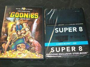 2-DVD-BLU-RAY-STEVEN-SPIELBERG-039-I-GOONIES-039-039-85-039-SUPER-8-039-039-08-STEELBOOK