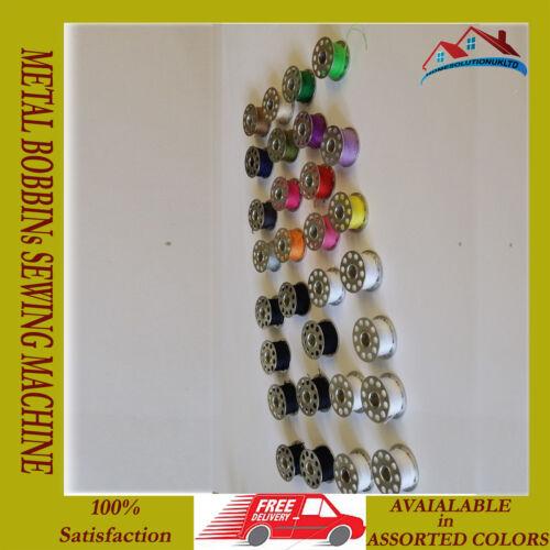 30 x metal les bobines Machine à coudre standard bobines couleurs assorties.