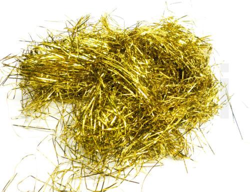 Lametta-Haar Fein 3 x 20g Beutel Weihnachten Deko Goldfarbig F173 €0,50//10g