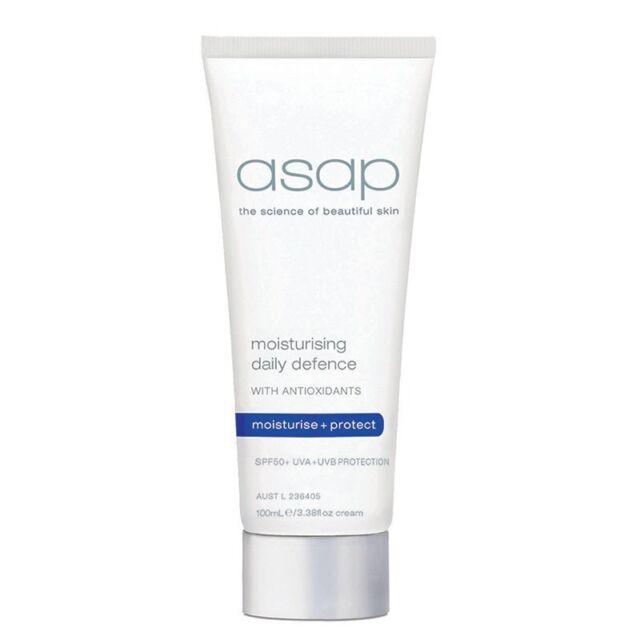ASAP Moisturising Daily Defence SPF 50+ UVA UVB 100ml Moisturiser w Antioxidants
