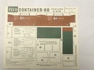 PECO-CONTAINER-KIT-OO-R-66-BR-4mm-SCALE-ENGLAND-SUIT-LIMA-HORNBY-TRIANG-OO-HO
