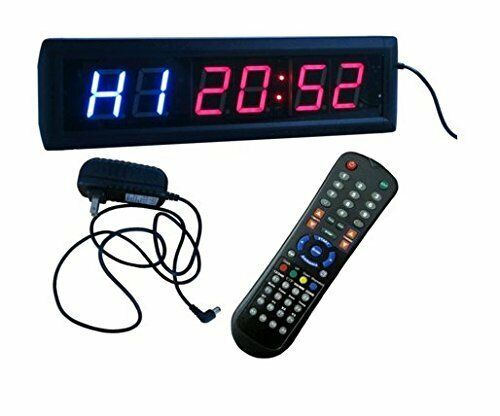 BEST Multifunction Interval Timer Workout Stopwatch Wall Clock w  Remote Control