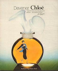 Sur Chloé Détails Publicité 1978 Karl Lagerfeld De Parfum Advertising v7ybgYf6