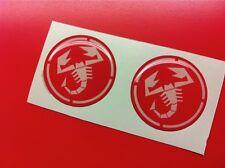 2 Adesivi Resinato Sticker 3D ABARTH Red