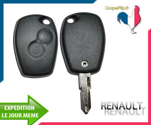 Cle Vierge Coque Télécommande Clé Plip 2 Boutons Renault Kangoo Modus Trafic