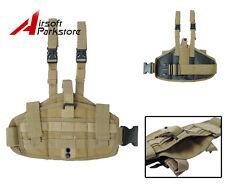 Universal Tactical Molle Drop Leg Thigh Pistol Gun Holster Pouch Bag Hunting Tan