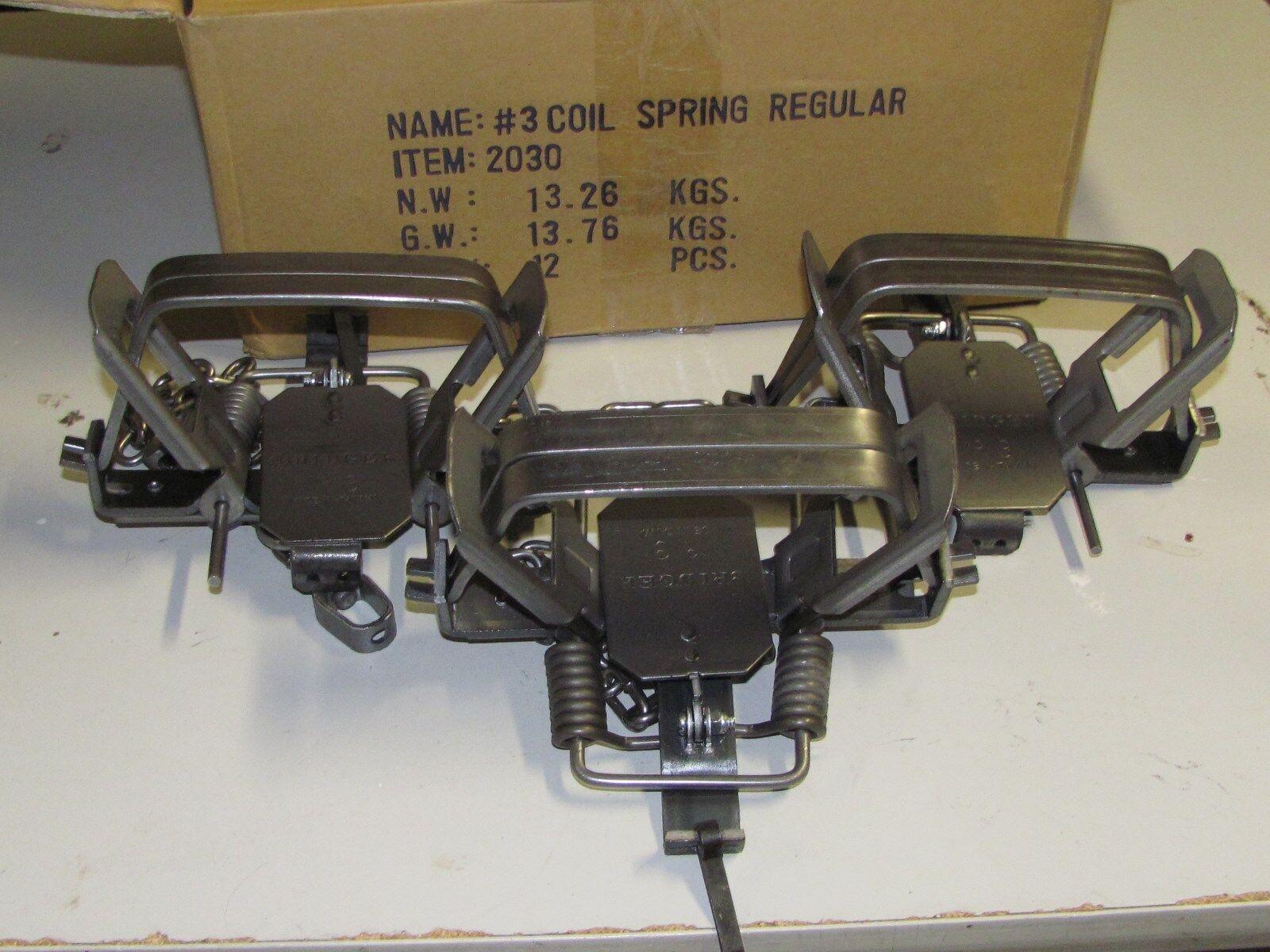 3 3 3 Bridger   3 trampas COYOTE ZORRO captura coilspring punto de apoyo Nueva Venta 1c5599