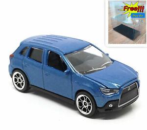 Majorette-Mitsubishi-ASX-Metallic-Blue-1-57-292H-no-Package-Free-Display-Box