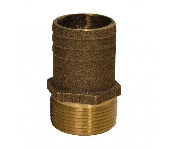 "PIPE HOSE ADAPTER BARB CAST BRONZE 34 FF500 FULL FLOW 1//2/"" PIPE 3//4/"" HOSE BARB"