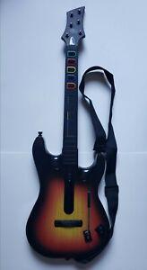 PS2 Guitar Hero Red Octane Sunburst Wireless Controller with Fender Strap