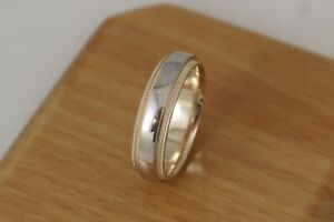 Gents-Two-Tone-Double-Milgrain-Wedding-Band-14kt-white-and-Yellow-Gold