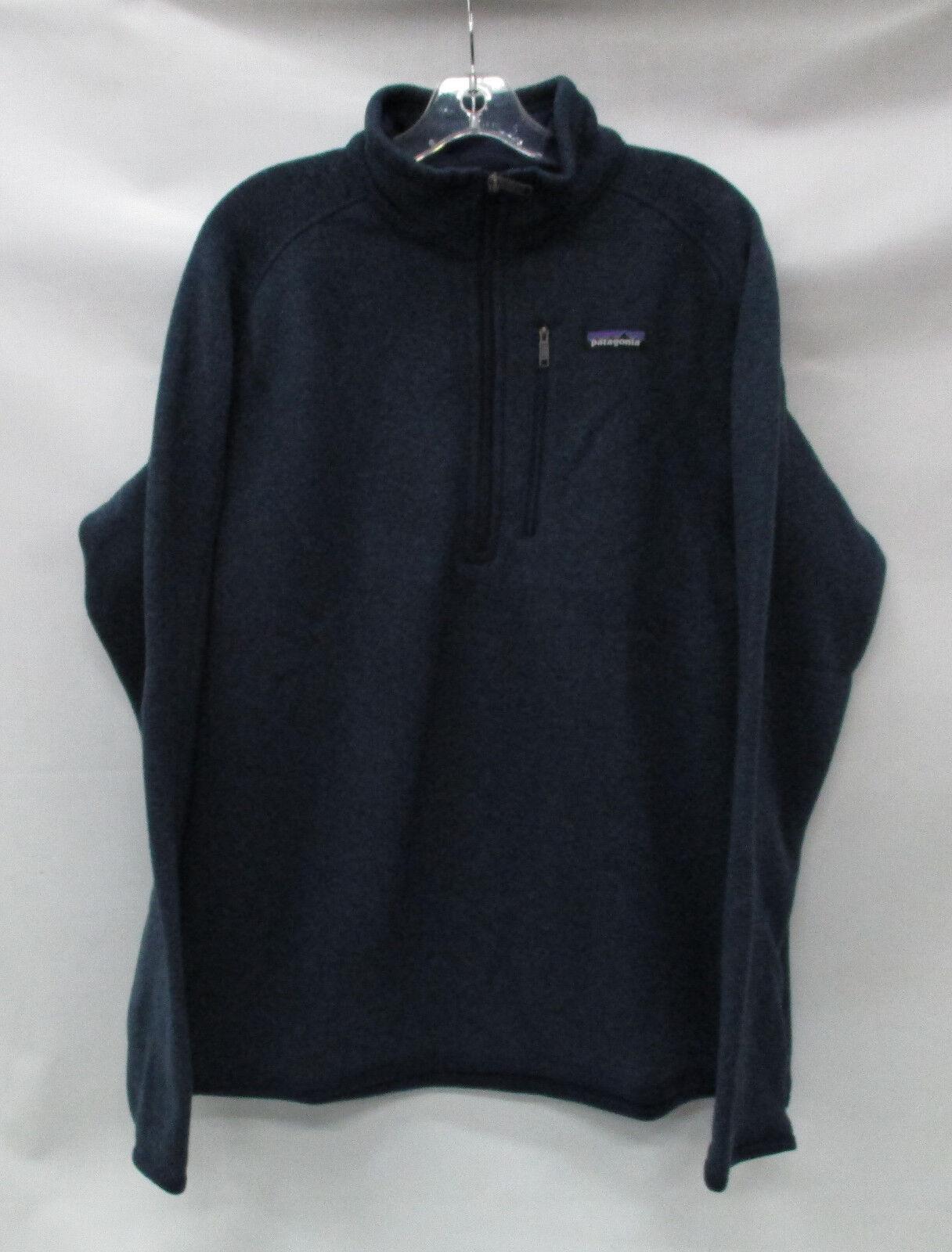 Patagonia  Herren Better Sweater 1/4 Zip Pullover 25522 Classic Navy Größe Small