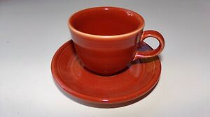 Set of 2 Fiesta  Apricot Peach Color Cups And Saucers