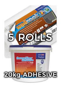 Wallrock 5 Rouleaux Thermique Liner & 20 Kg Thermique Doublure Adhésive-afficher Le Titre D'origine 6lg0nudr-07181304-869987970