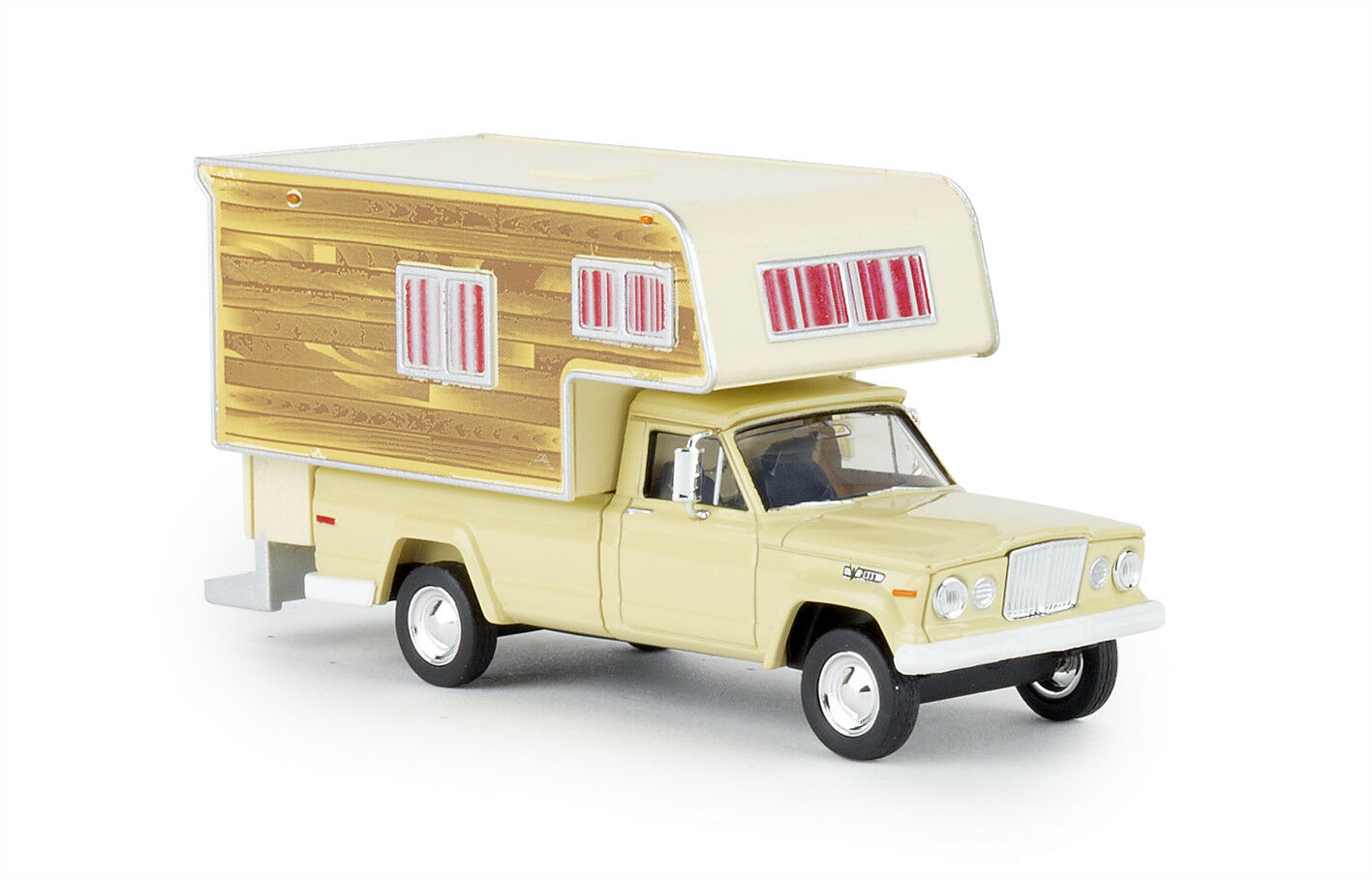 Brekina 19834 Jeep Gladiator Camper   Woody  , Car Model 1 87 (H0)