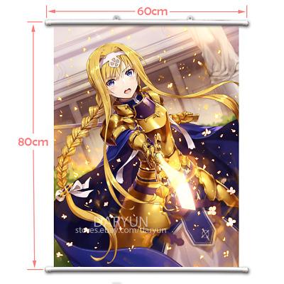 Sword Art Online Kirigaya Suguha Wall Scroll Poster free shipping(23.6X31.5 in)