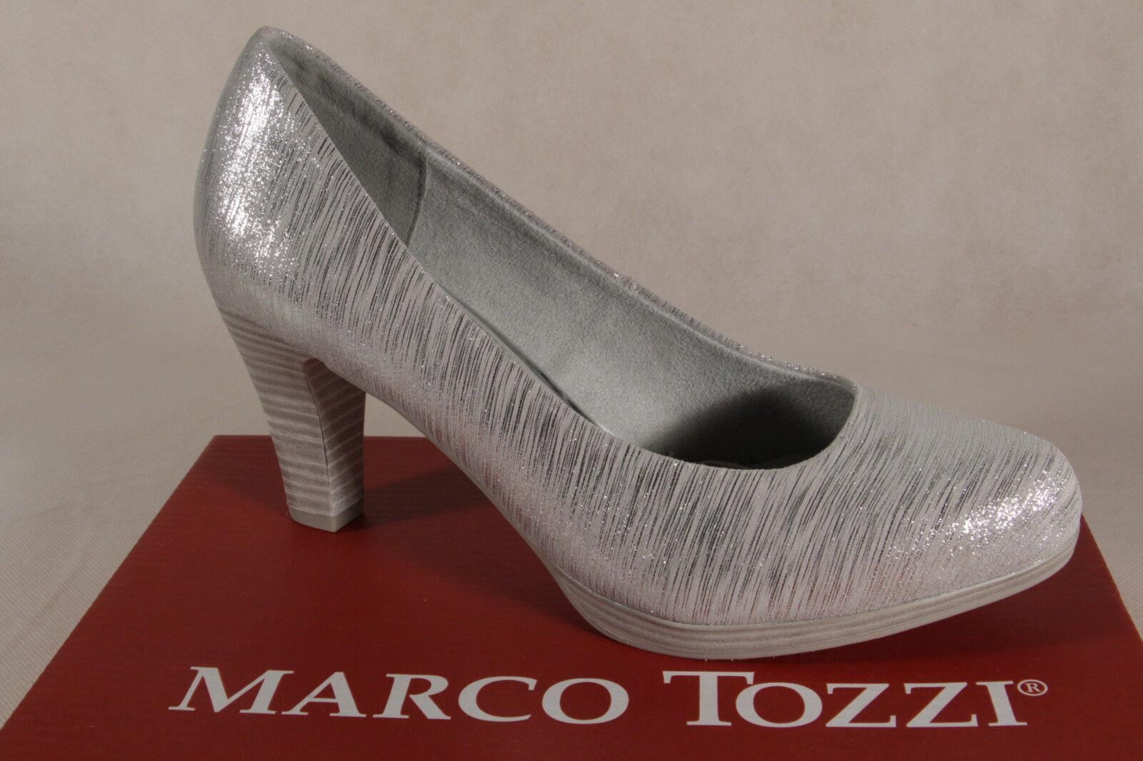 Marco Tozzi PUMPS BALLERINE SLIPPER NUOVO! ARGENTO 22448 NUOVO! SLIPPER 60131b