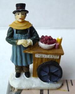 Grandeur-Noel-Street-Chestnut-Vendor-Victorian-Christmas-Village-2001-Miniature