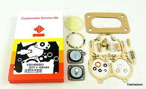 Alerte Weber 32/36 Dgav Carb Service Kit We444 Original Avec Base Gasket & Pompe à Ressort-afficher Le Titre D'origine Retarder La SéNilité