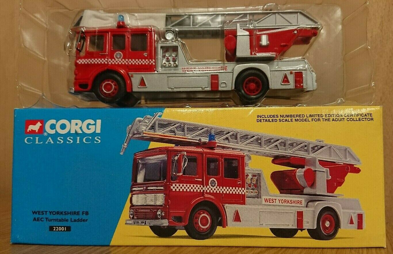 Corgi 22001 West Yorkshire FB AECF Turntable Ladder Fire Tender Ltd Edition No.6