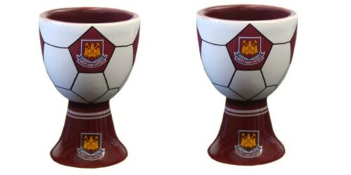 Ideal Football Gift Official West Ham Egg Cups 2 x West Ham United Egg Cups
