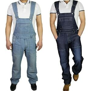 McCarthy-Mens-Jeans-Denim-Blue-Dungarees-Dungaree-Overalls-All-Waists-30-60