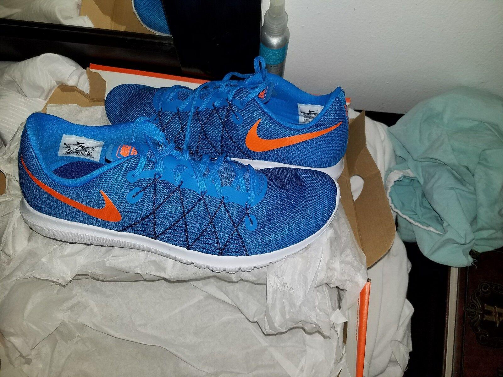 Nike Flex Fury Blue 2 Mens 819134-404 Racer Blue Fury Glow Mesh Running Shoes Size 10 7a239e