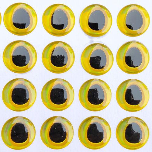 100pcs Fishing Lure Eyes 3D Simulation Water Drop Saltwater 6mm//8mm//10mm//12mm