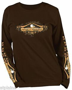 Style T ML RIDER BIKER eBay LADY Taille Shirt HARLEY femme S U0qwg0PST