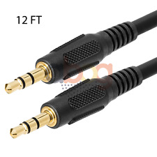 12ft 3.5mm AUX AUXILIARY CORD Male to Male Stereo Audio Cable PC iPod MP3 CAR